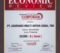 """Pencapaian di pertengahan tahun 2015 dari Economic Review, Indonesia Good Corporate Governance Awards 2015, yang memberikan predikat predikat """"B"""" (Good)"""