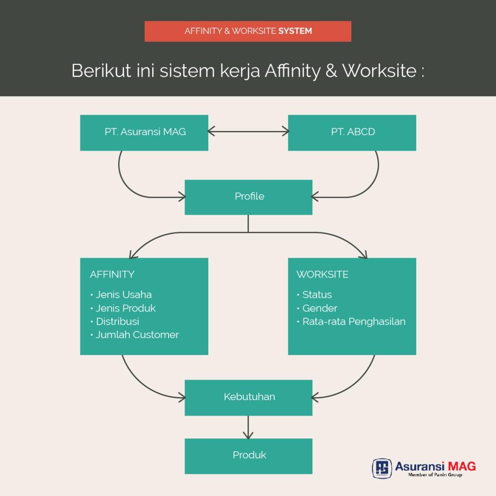 Sistem Kerja Affinity & Worksite Asuransi MAG