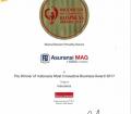 """Februari 2017, majalah Warta Ekonomi menganugerahkan kepada perusahaan sebagai """"Indonesia Most Innovative Business Awards 2017"""" untuk kategori Asuransi."""