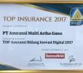 """September 2017, TOP Insurance menganugerahkan kepada Perusahaan sebagai """"TOP Asuransi Bidang Inovasi Digital 2017""""."""